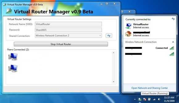 WLAN Virtual Router Manager